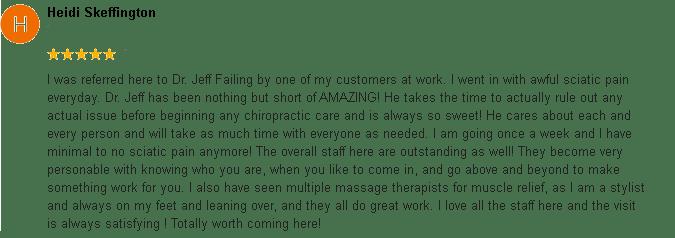 East Ridge Chiropractic - Patient Review 2
